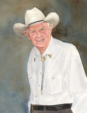 """Hoot Gibson a Country Gentleman"" by Bill McKeown is part of the Tallahassee Proud exhibit."