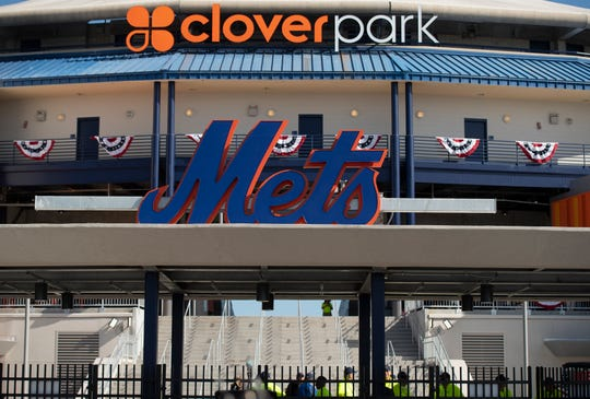 Opening day for the New York Mets spring training games at Clover Park, the newly renovated stadium and practice fields, on Saturday, Feb. 22, 2020, in Port St. Lucie. The Mets played the Miami Marlins in a split squad game for an enthusiastic crowd.