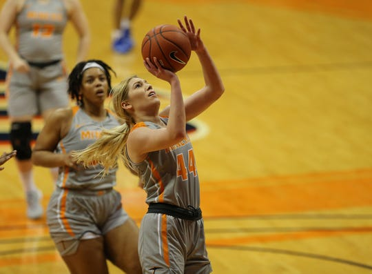 UTEP's Katarina Zec puts up a shot against Middle Tennessee Saturday at the Don Haskins Center