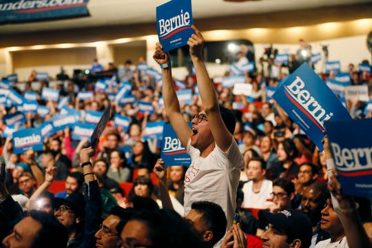 Democratic presidential candidate Bernie Sanders visits El Paso for rally Saturday, Feb. 22, at the Abraham Chavez Theatre in El Paso.