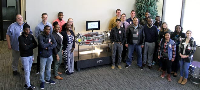 Midwestern State University students toured three manufacturing facilities Saturday, Feb. 22, 2020. The students first stop was Pratt & Whitney before heading to Arconic and finally to Kalco.