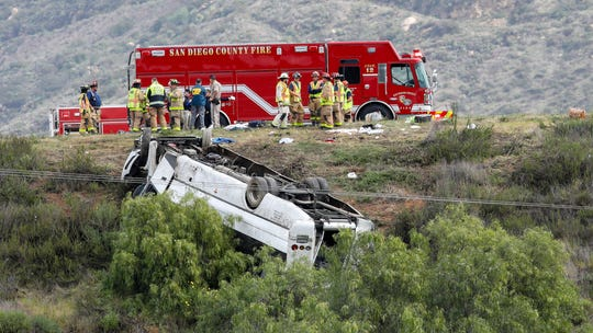 NTSB probing crash of charter bus that 'just flipped over,' killing 3 on California freeway