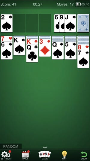 The Solitaire game from ZenJoy