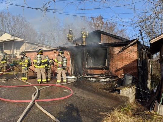 This house on Gupton Circle caught fire Saturday afternoon, Feb. 22, 2020.