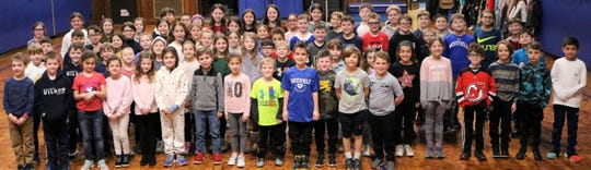 "More than 70 ""Ambassadors of Kindness"" were recognized during a closing assembly for the ""Month of Hope"" at Wilson School in Westfield on Friday, Jan. 31."