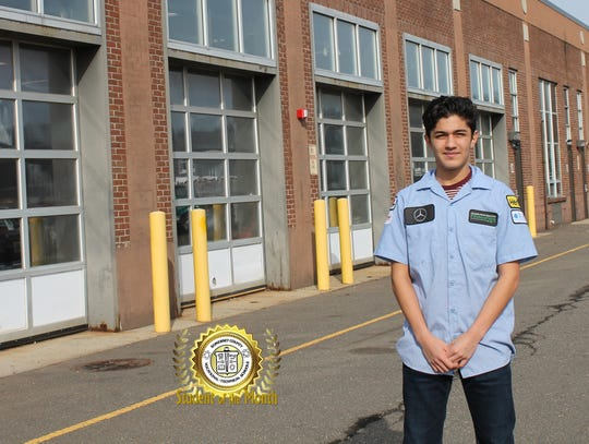 Christian Martinez, a junior in the Auto Body program, has been selected as Somerset County Vocational & Technical High School's (SCVTHS) Student of the Month for February 2020.