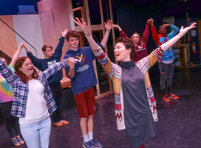 """Choreographer Heather Fleischman shares her joy of dance with the cast of  """"Catch Me If You Can."""""""