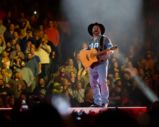 Garth Brooks performs at Ford Field on February 22, 2020 in Detroit.