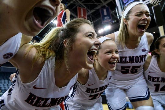 Belmont's Maura Muensterman, an Evansville native, and the Bruins won the program's fourth consecutive OVC tournament title last year.
