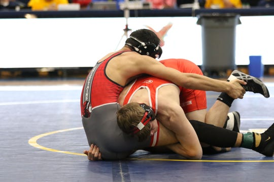 Port Clinton's Mason Elson is in control.