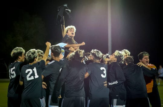 The Mariner boys soccer team played Bishop Kenny for a spot in the 4A state championship match. The Tritons look to make their first trip to a title match ever in the program's second Final Four.