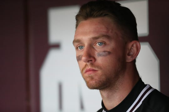 Mississippi State's Jordan Westburg (11). Mississippi State played Oregon State at Dudy Noble Field in game 3 of the series on Sunday, February 23, 2020. Photo by Keith Warren