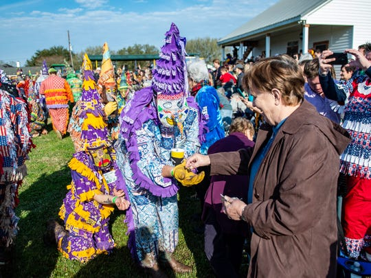 The 59th Annual Saddle Tramp Rider's Club Courir de Mardi Gras held in Church Point Sunday, Feb. 23, 2020.