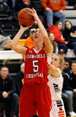 Fairfield Christian Academy senior Hope Custer scored 36 points in the Knights' tournament win over Granville Christian, and in the process, became the school's all-time leading scorer in girls basketball. Custer has scored 1,668 career points, breaking Celeste Mershimer's record of 1,661 points.