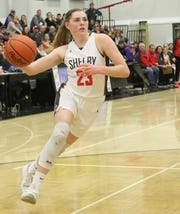 Shelby sophomore Olivia Baker scored a team-high 23 points on Saturday night in a win over Lexington.