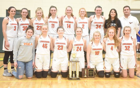 The Viola Lady Longhorns won the 1A-2 District championship on Saturday night at Omaha.