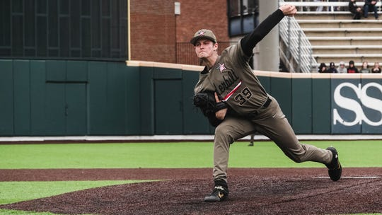 Vanderbilt junior left-hander Jake Eder recorded a career-high 11 strikeouts while allowing two runs on three hits over 5 ⅔ innings Sunday.