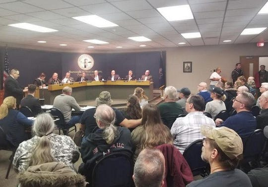 Residents filled the room for a presentation from the Gun Owners of America to Waynesboro Borough Council on Wednesday night.