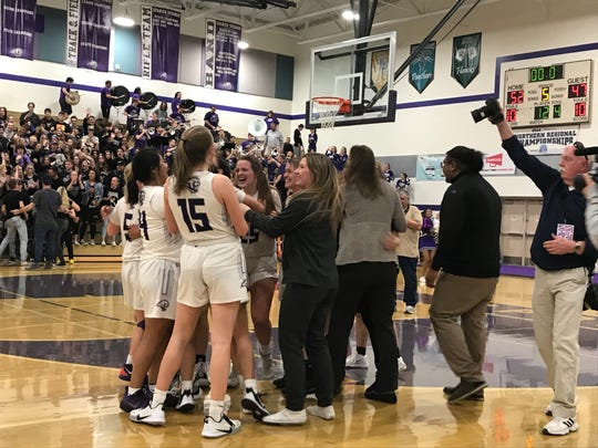 Spanish Springs beat Bishop Manogue 52-47 in OT on Saturday for the Northern 4A Region girls basketball championship.