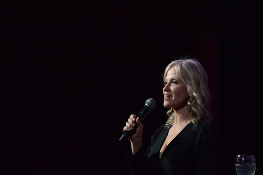 Kellyanne Conway, counselor to President Trump, speaks to fellow Republicans at the Missouri GOP's Lincoln Days on Saturday, Feb. 22, 2020 at University Plaza.