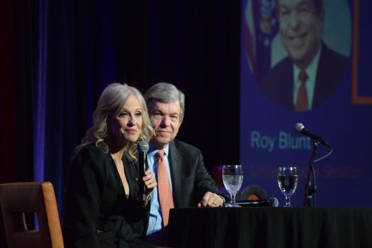 Kellyanne Conway, counselor to President Trump, speaks to fellow Republicans at the Missouri GOP's Lincoln Days on Saturday at University Plaza.