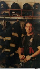 Daniel Foley, FDNY, at his firehouse, Rescue Co. 3 in the Bronx, in this undated photo.