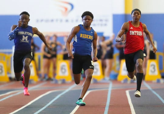 Smyrna senior Nigel Reeves (right) is hopeful that at least part of the outdoor track season can be salvaged in May and June.