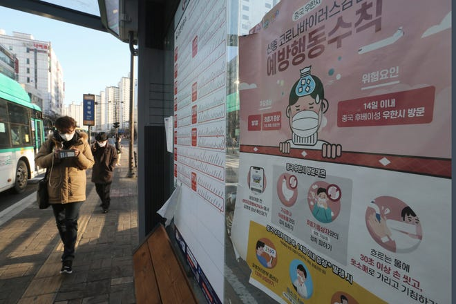 South Korea has the largest number of confirmed coronavirus cases outside of China, with736 casesas of Monday, Feb. 24. There are no coronavirus cases on Guam.