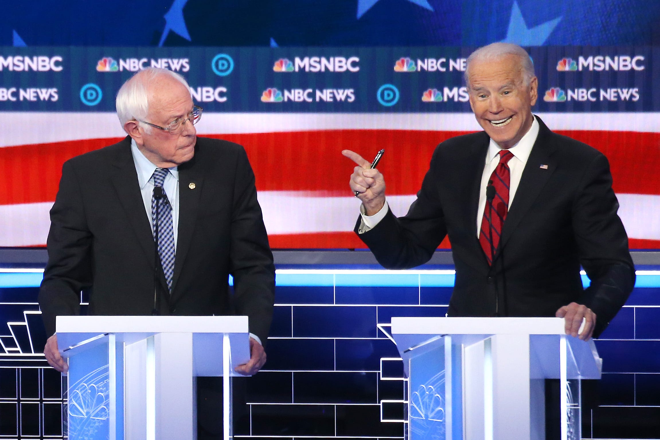 They like Bernie : Biden says Russia working to prevent him from getting nomination
