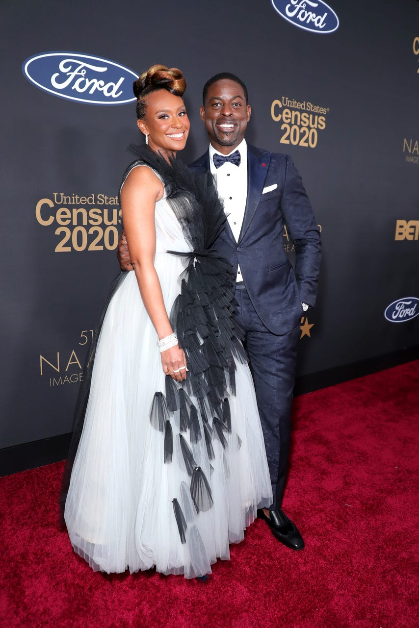 Ryan Michelle Bathé and Sterling K. Brown