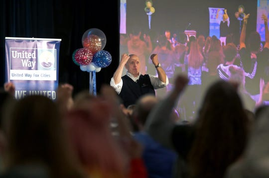 Carl Olson speaks to students during the 2020 Teen Symposium Monday at the Red Lion Hotel Paper Valley in downtown Appleton.