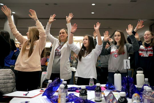 Students and staff from Appleton East High School were among about 250 Fox Valley youth to attend the 2020 Teen Symposium Monday at the Red Lion Hotel Paper Valley in downtown Appleton.