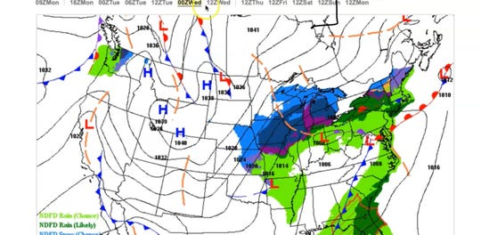 A powerful cold front with heavy downpours will make it feel like winter again after a brief warm weather stint.