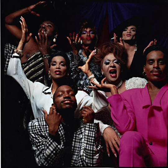 """A poster shoot group photo from 1991 with the cast of Jennie Livingston's """"Paris is Burning."""""""