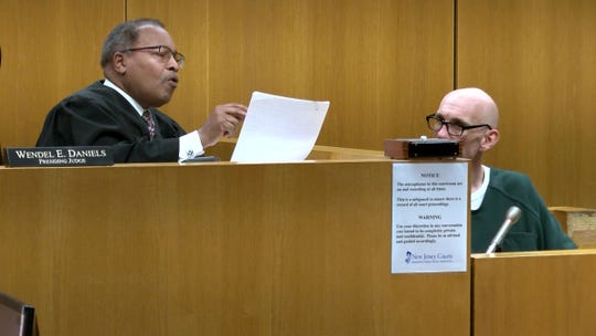 Henry C. Cirignano; a probation officer accused of sexually assaulting a probationer he supervised in Monmouth County, goes over his plea with Ocean County Superior Court Judge Wendel E. Daniels in Toms River Monday, February 24, 2020.