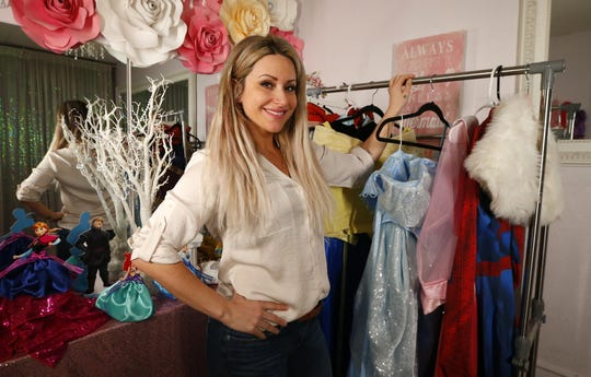 Danielle Ippolito, owner of Princess Party Productions, a business that provides costumed characters for children's parties. Brick,NJ  Friday, February 21, 2020 Noah K. Murray-Correspondent/Asbury Park Press