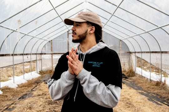 Devon Wilson, 23, is leasing to own a farm from Sprout in the Washington Heights neighborhood of Battle Creek, Mich. His intentions are to provide the neighborhood with a place to buy healthy food.