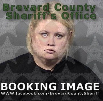 Lindsey Thorson, 27, was charged with transmission of materials harmful to minors and tampering with evidence and booked into the the Brevard County Jail Friday.