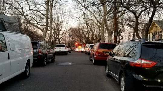 Police are investigated an apparent home-invasion robbery on the 200 block of Crestmont Terrace in Collingswood Sunday.