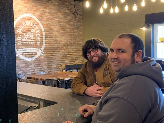 Jack O'Connell, co-owner and manager (left), and head brewer Josh Caputo, sit in the tasting room of Dr. Brewlittle's Beer Co. in Maple Shade.