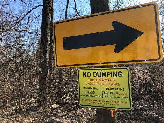 Illegal dumping across Cincinnati cost the city $2.4 million dollars in clean up in 2019 (Source: Chris Riva)