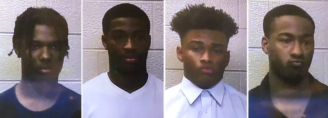 From left, Galiko Lovelace, 17, of Sterling Heights, Ricky Pearson, 18, of Eastpointe, Michael Young, 18, of Sterling Heights and Sean Bonery, 18, of Warren.