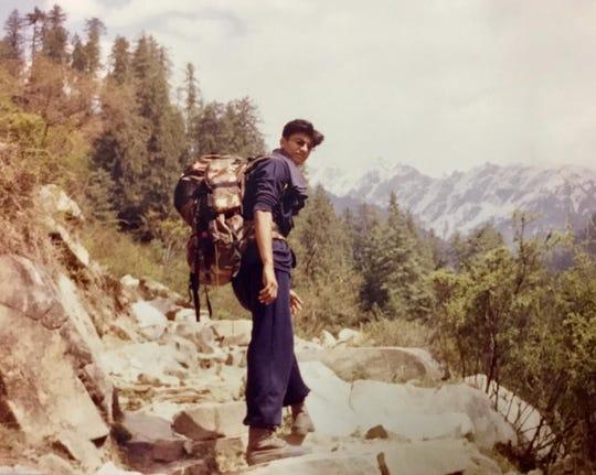 Jigar Kapadia at age 17 going to yoga camp in the Himalaya Mountains.