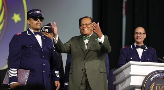 The Honorable Minister Louis Farrakhan arrived to address thousands of members of the Nation of Islam during Saviors' Day Sunday, February 23, 2020 at the Cobo/TCF center in Detroit, Mich.
