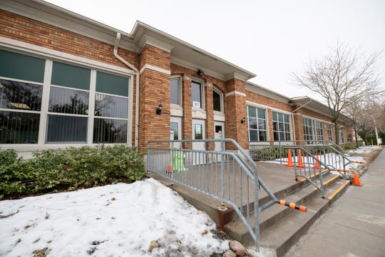 This is the entrance to Ferndale Lower Elementary School in Ferndale. A bond vote in March will decide whether the school will be replaced with a new building.