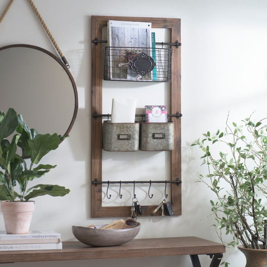 Multipurpose pieces like this wall organizer pack myriad functions into one find.