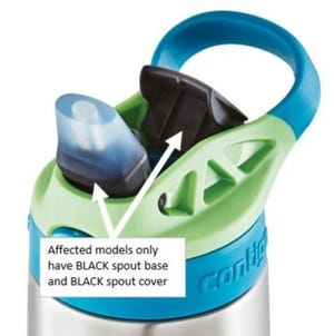 Contigo is recalling these water bottles due to a detachable spout that can be a choking hazard.