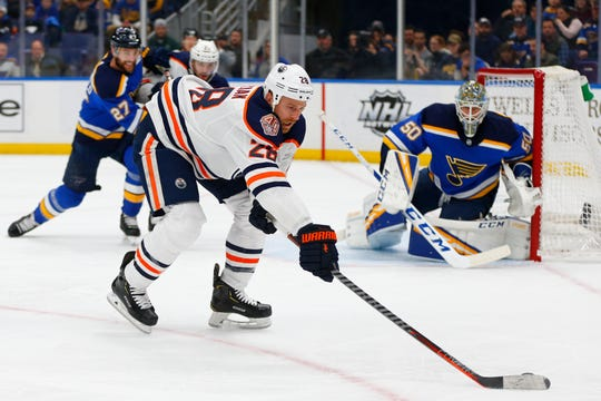 Oilers forward Kyle Brodziak was acquired by the Red Wings for defenseman Mike Green. Detroit also received a conditional draft pick.