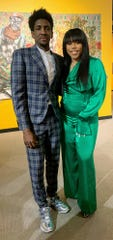 Detroit Pistons Langston Galloway and his wife, Sabrina