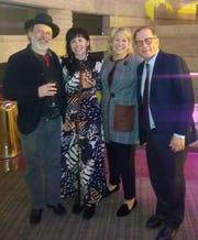 Ethan and Gretchen Davidson, Nancy and Arn Tellem.